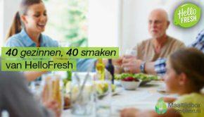 40 Gezinnen, 40 Smaken van HelloFresh.
